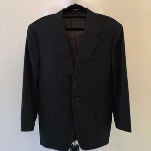 CANALI 3 Button Blazer 38 US Regular Navy Blue